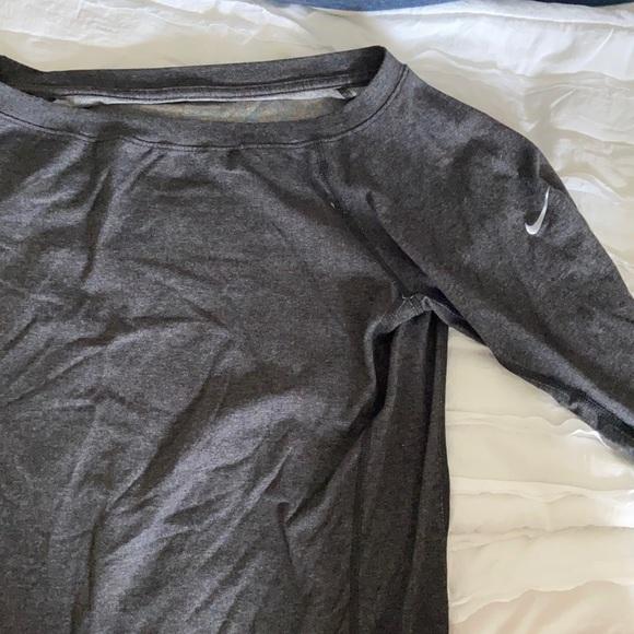 Grey Nike running sweatshirt